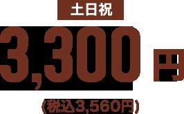 土日祝料金 3,300円